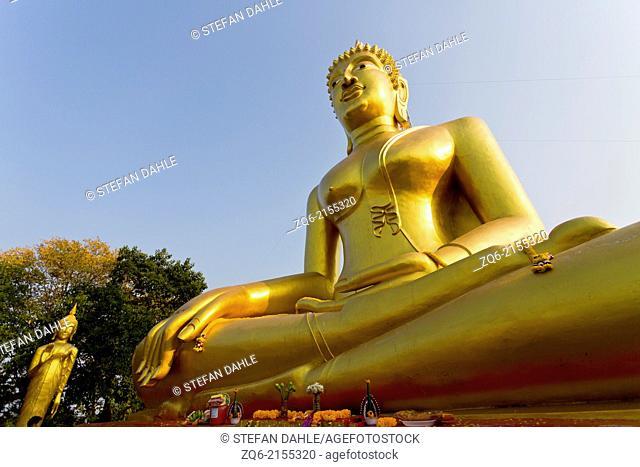 The Big Buddha Statue of the Wat Phra Yai Temple in Pattaya, Thailand