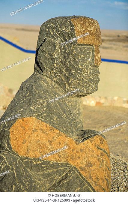 Basalt Sculpture at Desert Breeze in Namibia