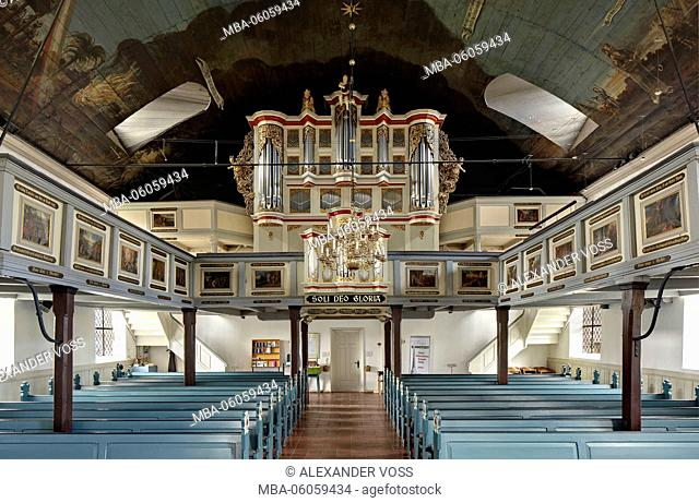 Germany, Schleswig-Holstein, Barmstedt, Heiligen-Geist-Kirche, organ