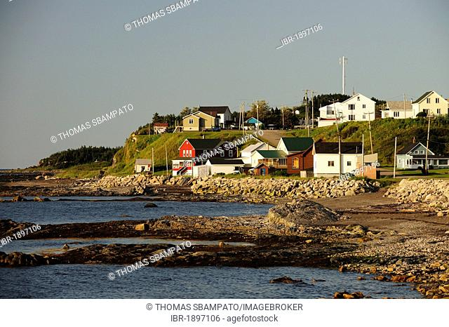 Grosses-Roches, a village on the banks of the St. Lawrence River, Gaspe Peninsula, Gaspésie, Quebec, Canada