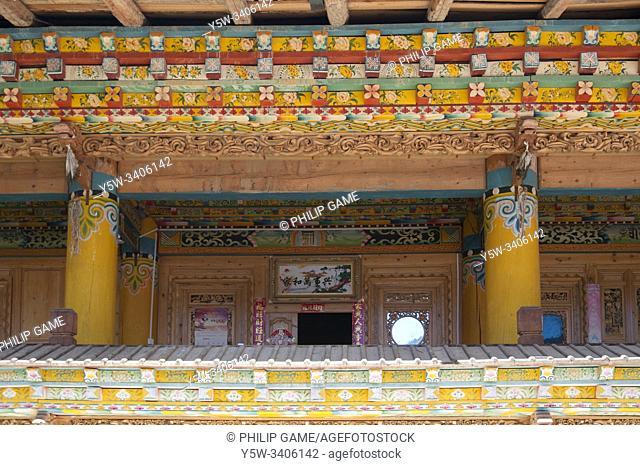 Tibetan homesteads outside Zhongdian (Shangri-La) in Yunnan, China