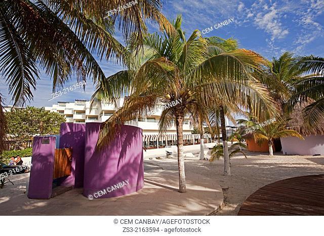 View to the North Beach, Playa del Norte, Isla Mujeres, Cancun, Quintana Roo, Yucatan Province, Mexico, North America