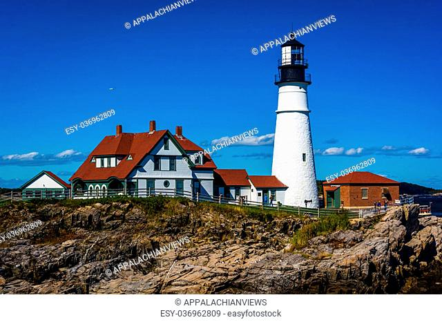 Portland Head Lighthouse at Fort Williams Park in Cape Elizabeth, Maine