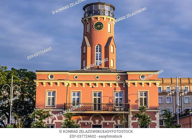 City Hall and museum located on the Wladyslaw Biegansk Square in Czestochowa city in Silesian Voivodeship of southern Poland