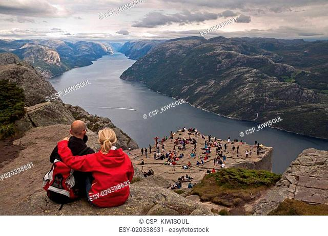 Over vanity. Preikestolen, Norway