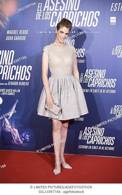 Ruth Gabriel attends 'El asesino de los caprichos' premiere at Verdi Cinema on October 15, 2019 in Madrid, Spain