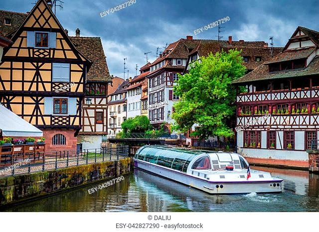 Traditional colorful houses in La Petite France, Strasbourg, Alsace, France