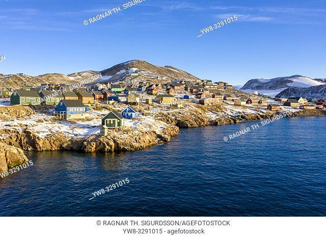 Ittoqqortoormiit Village, Illoqqortoormiut (Greenlandic). Scoresbysund (Danish), Greenland