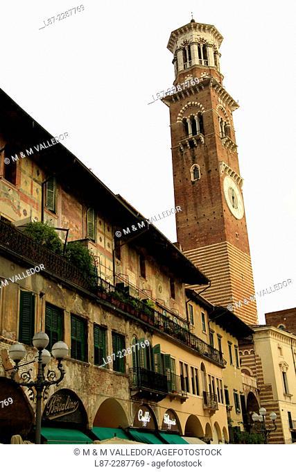 Lamberti tower, Verona, Italia