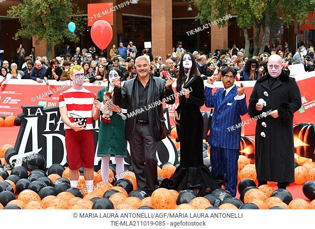 Pino Insegno during the red carpet of cartoon ' La famiglia Addams ' at the 14th Rome Film Festival, Rome, ITALY-20-10-2019