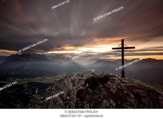 Summit cross from the Signalkopf above Krün