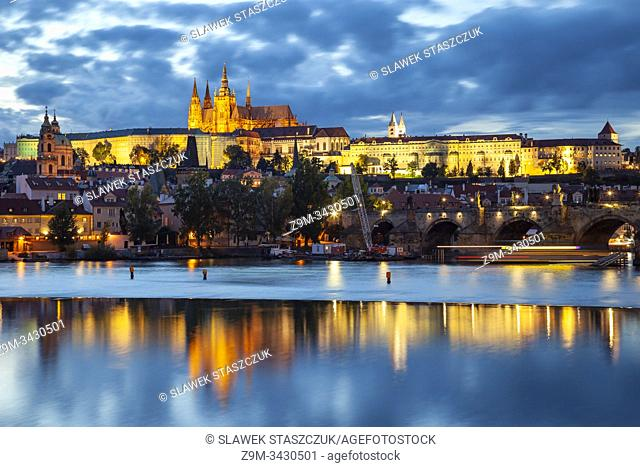 Evening at Hradcany in Prague, Czechia