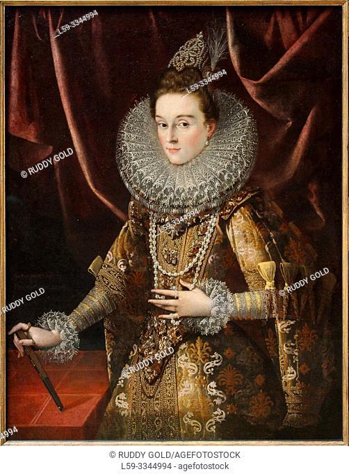 'Infanta Isabella Clara Eugenia of Spain', 1599, Peter Paul Rubens (1577-1640)
