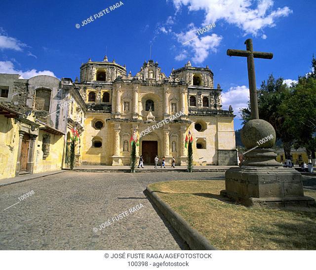 La Merced Church. Antigua Guatemala. Guatemala
