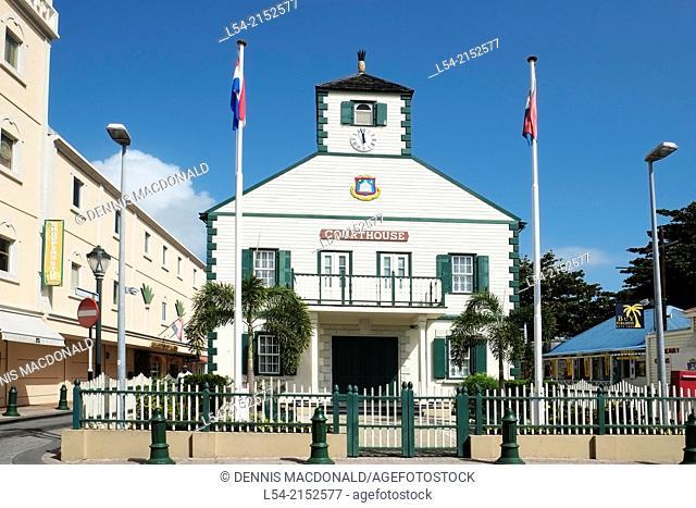 downtown Courthouse St Maarten Martin Caribbean Island Cruise Ship Norwegian Sun Leeward Islands