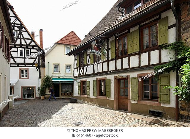 Half-timbered houses in the old town of Neustadt an der Weinstrasse, Rhineland-Palatinate, Germany, Europe