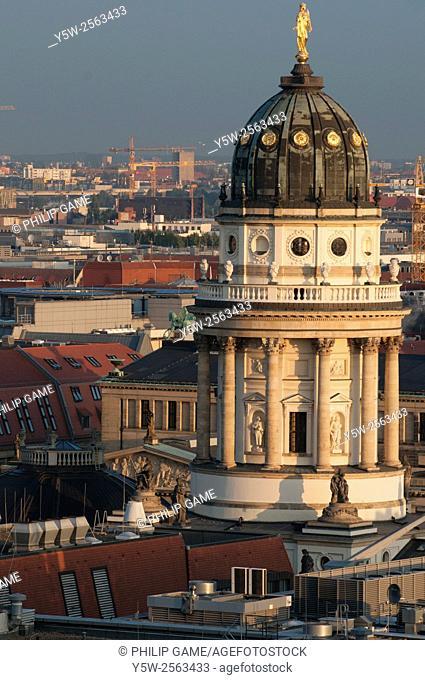 The baroque German Church, Gendarmenmarkt, central Berlin, Germany
