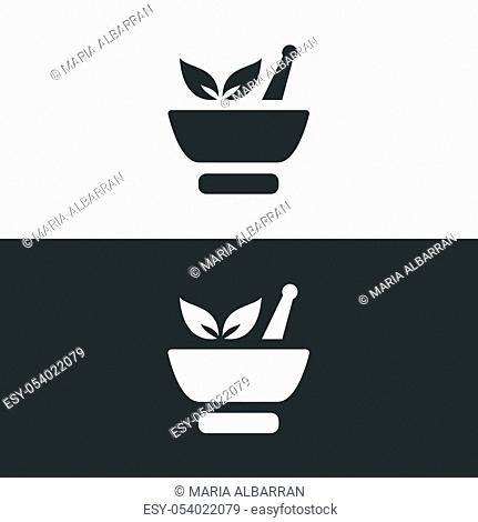 Lab plant icon. Pharmacy isolated vector illustration