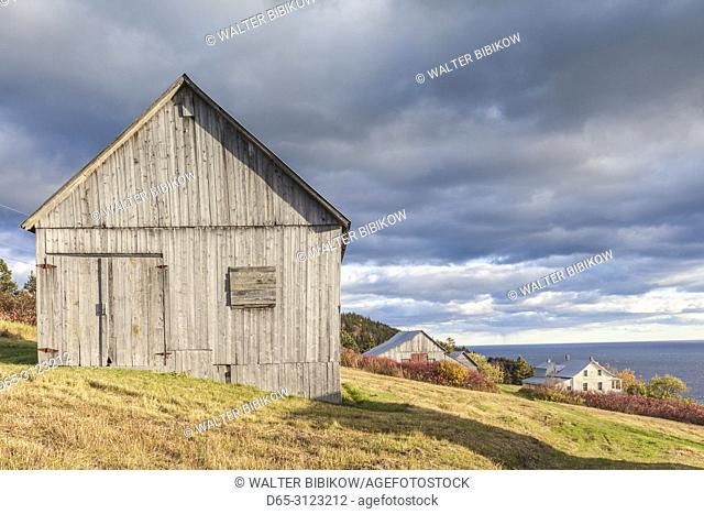 Canada, Quebec, Gaspe Peninsula, Forillon National Park, Grande-Grave, historic settlement houses
