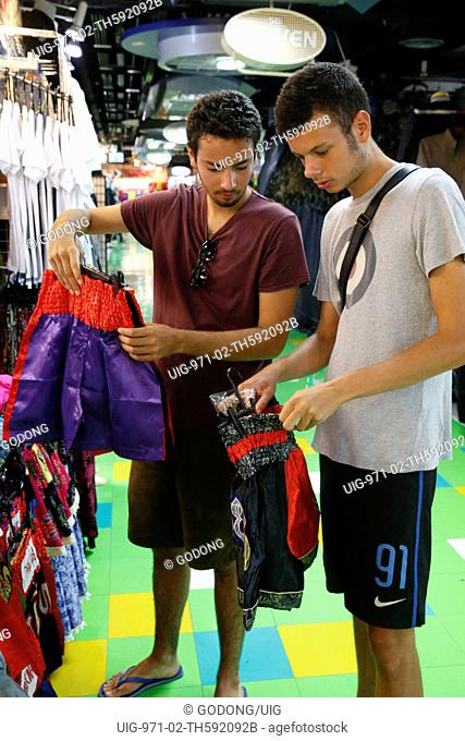 Young tourists shopping in Bangkok