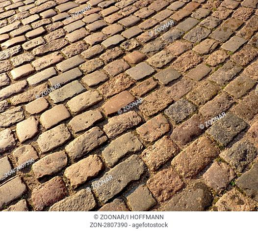 old cobblestone in germany