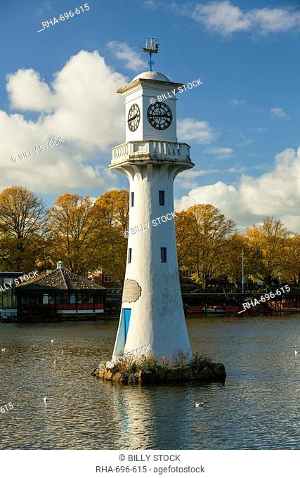 Captain Scott Memorial Lighthouse, Roath Park, Cardiff, Wales, U.K