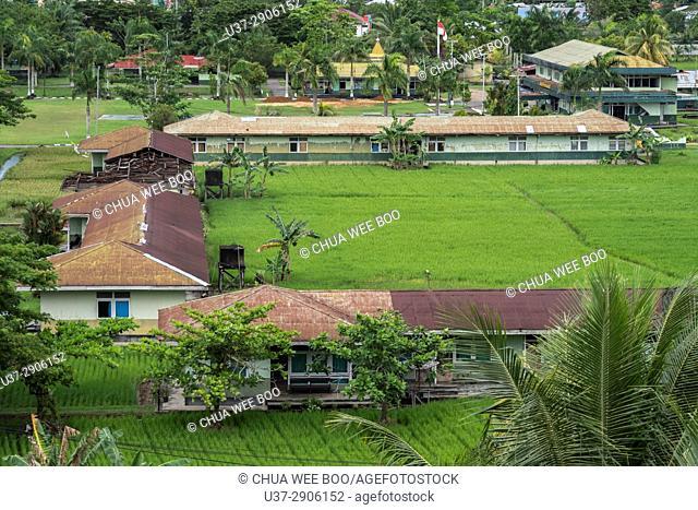 View of Singkawang town from hotel, West Kalimantan, Indonesia