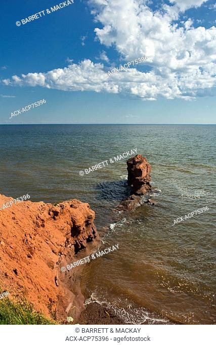 Coastal erosion, Cape Egmont, Prince Edward Island, Canada