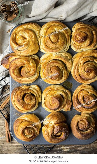 Puff pastry with cinnamon