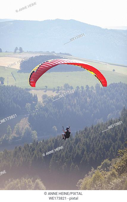 Paragliding course in Elpe, Sauerland, Germany