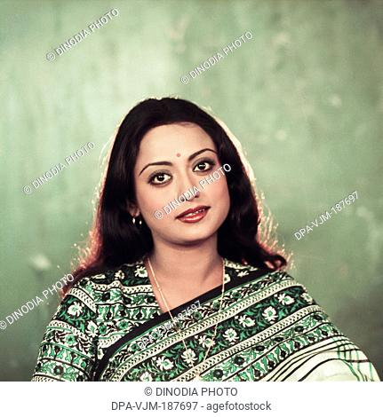 1980, Portrait of Indian film actress Rameshwari