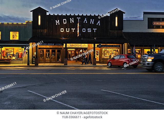 Famous Montana Outpost Restaurant, West Yellowstone , southern Montana, USA