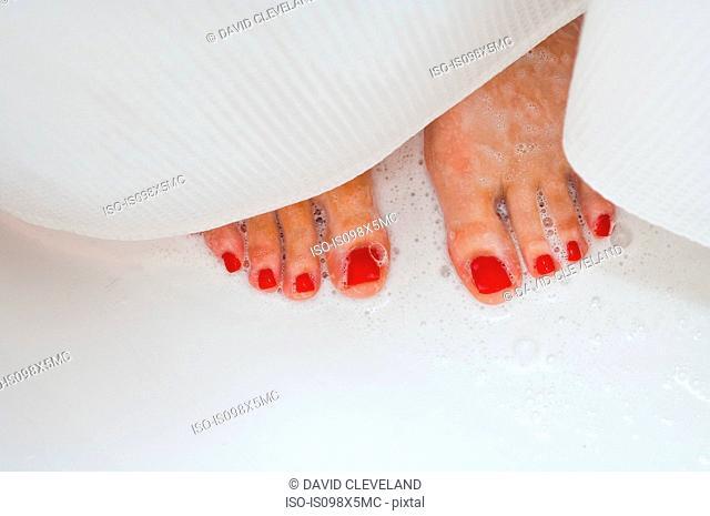 Woman's feet in shower