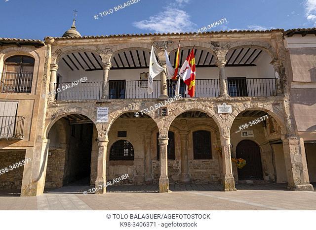 casa del Concejo y Alhóndiga, siglo XVI, Medinaceli, Soria, comunidad autónoma de Castilla y León, Spain, Europe
