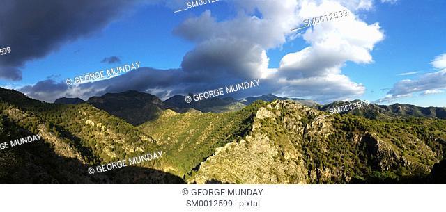 Sierra de Enmedia Mountains,. North east of Frigiliana, Costa del Sol, . Andalucia, Spain