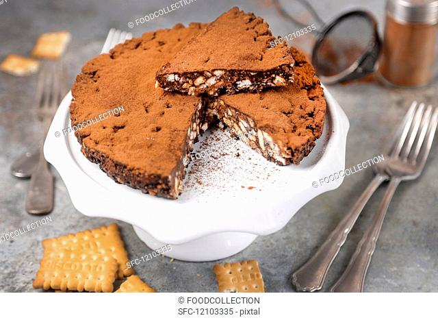 cocoa cake and biscuits without baking