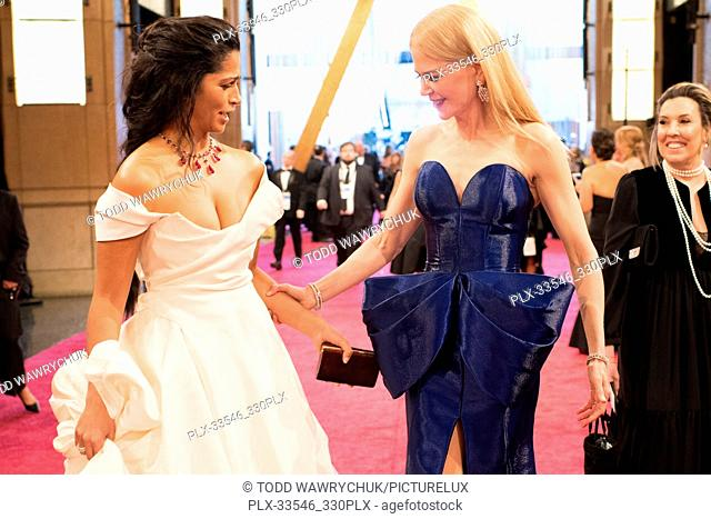 Camila Alves and Nicole Kidman on the red carpet of The 90th Oscars® at the Dolby® Theatre in Hollywood, CA on Sunday, March 4, 2018