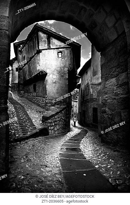 Julianeta house in Albarracin, Teruel with a hard edition in black and white