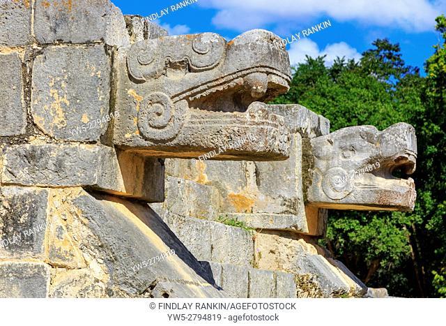 Carving details at Plataforma de Venus, Chichen Itza, Yucatan Provence, Mexico
