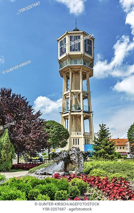 The water tower in Siofok was built in 1912 according to the plans of Jeno Gergely and Arpad Gut. It is the landmark of the city, Siofok, Somogy county