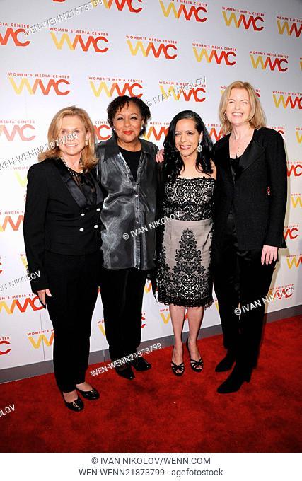 2014 Women's Media Awards - Red Carpet Arrivals Featuring: Carolyn Maloney,Carole Jenkins,Julie Burton Where: New York City, New York