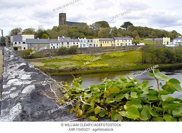 The town of Newport, County Mayo, Ireland