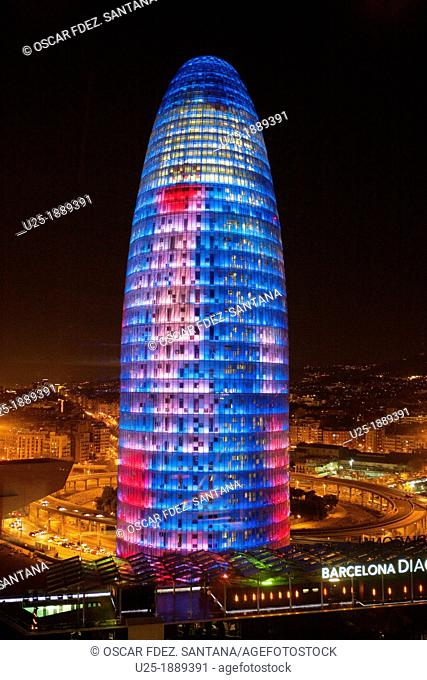 Spain, Catalonia, Barcelona, Agbar tower