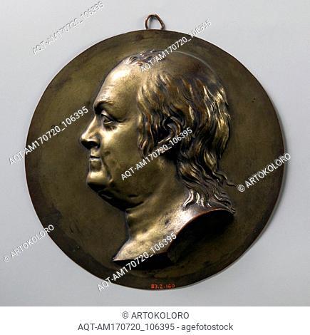 Medallion, 1776–1800, Probably made in France, Galvonplast (probably galvano-reproduction), Diam. 5 5/8 in. (14.3 cm), Metal, Jean-Baptiste Nini (Italian