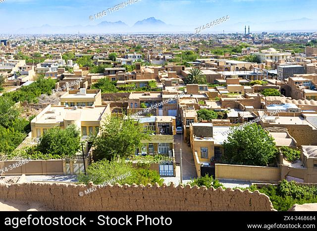 View over Meybod, Yazd Province, Iran, Asia