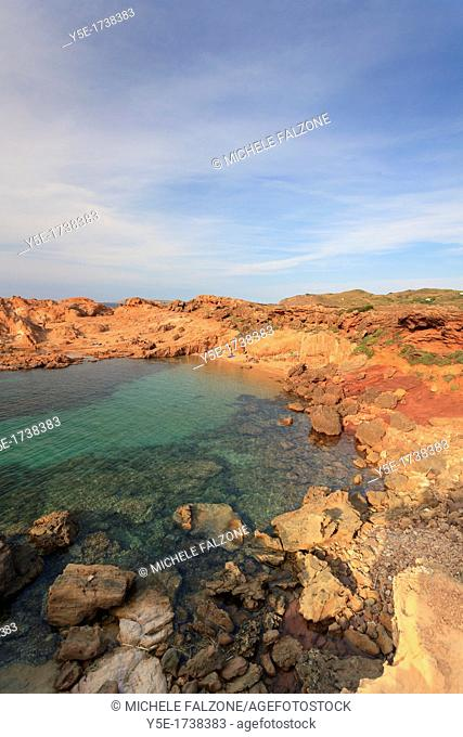 Spain, Balearic Islands, Menorca, Cala Pregonda