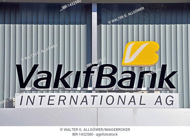 Branch of the Turkish Vakifbank in Cologne, North Rhine-Westphalia, Germany, Europe