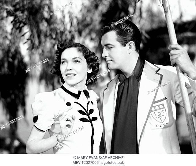 Maureen O'sullivan & Robert Taylor Characters: Molly Beaumont, Lee Sheridan Film: A Yank At Oxford (UK 1938) Director: Jack Conway 18 February 1938