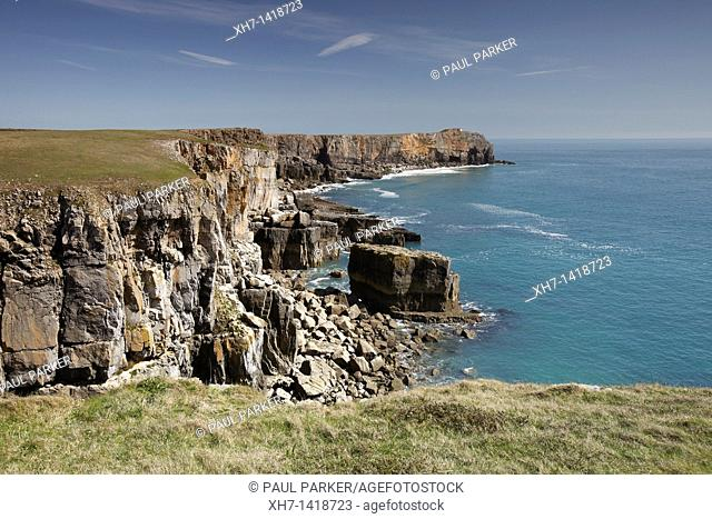 St Govens Head, Pembrokeshire Coast, Wales, UK