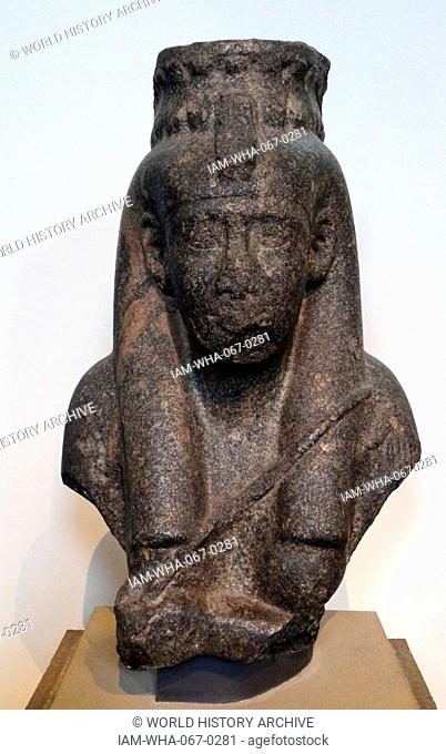 The King's Mother Tasherenese 26th Dynasty, reign of Amasis (570-526 BC), Granodiorite Egypt